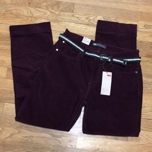Levi's 505 straight mid rise corduroy pants sz 12m